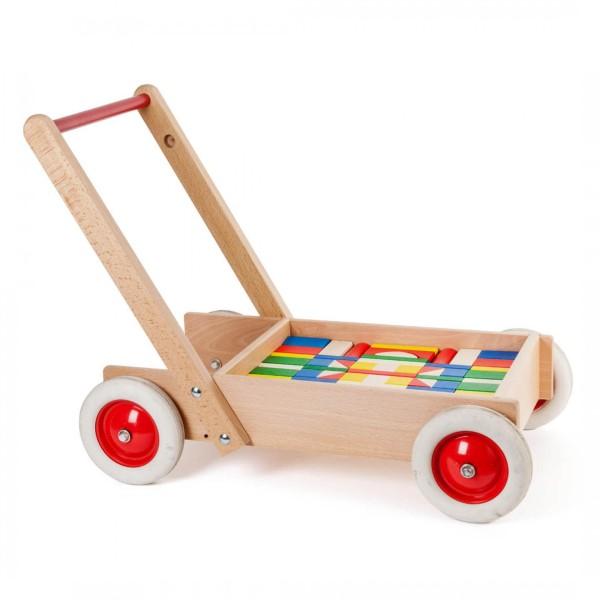 Lernlaufwagen mit Bausteinen