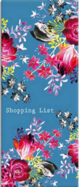 Shoppinglist Blumenmotiv
