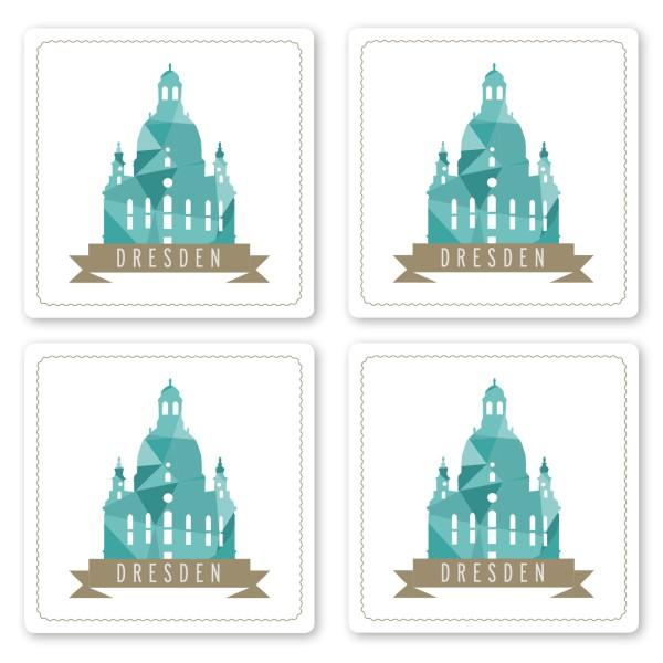 Untersetzer-Set Dresden Frauenkirche
